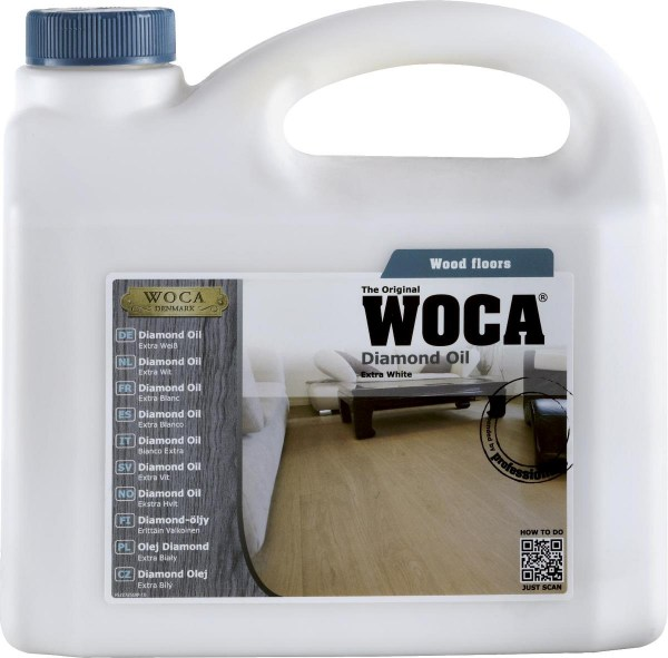 Woca Diamond Oil extra weiß, 1,0 Liter