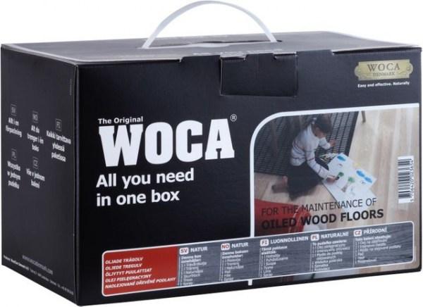 Woca Pflegebox Weiß mit Pflegeöl