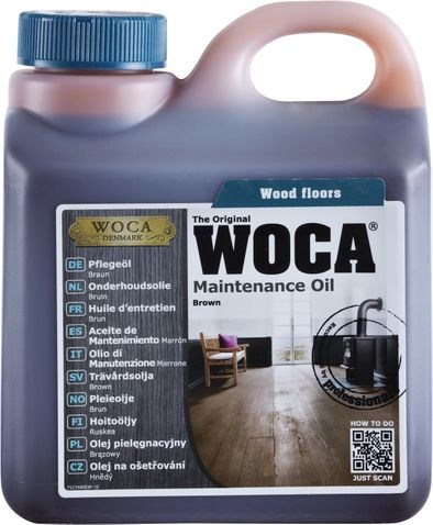 Woca Pflegeöl Braun, 1,0 Liter