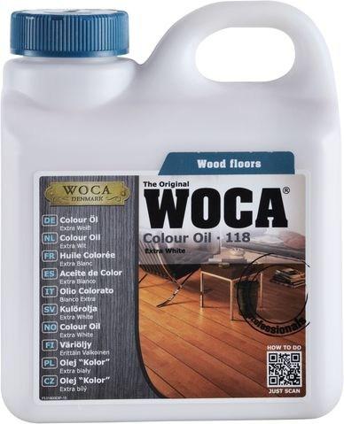 Woca Colouröl Nr. 118 - Extra Weiß -, 1,0 Liter